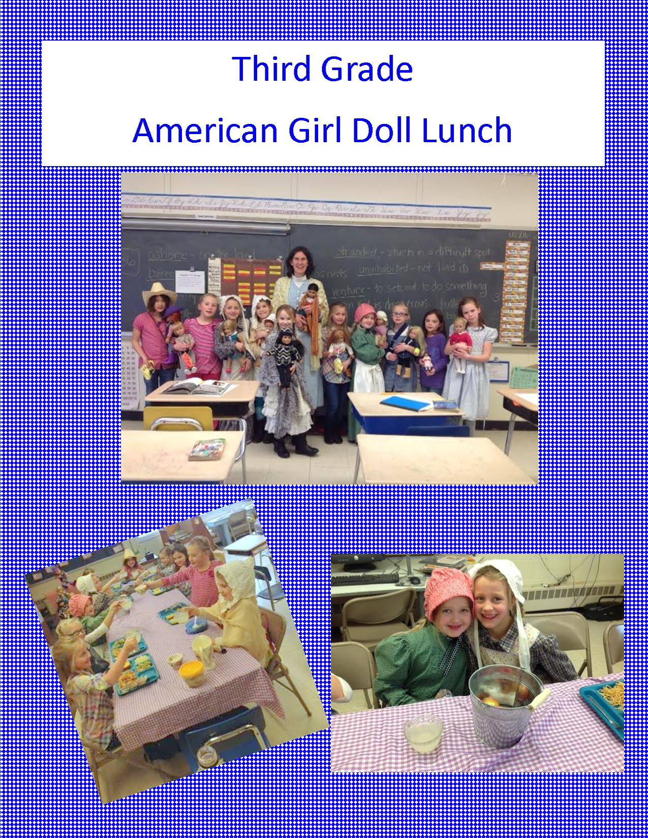Houghton Township Schools American Girl Doll Lunch